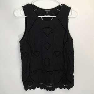 Lucky Brand Tank Top Small Black Lace